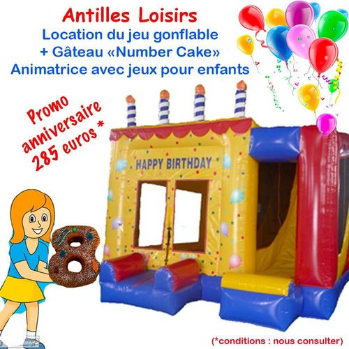 PACKAGE JEU + GATEAU + ANIMATRICE
